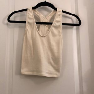 Cream razor back tank top - Truly Madly Deeply